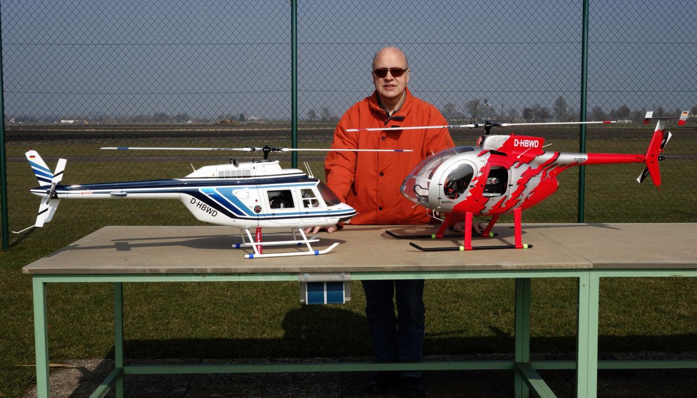 Bell Jet Ranger III + Hughes 500 E